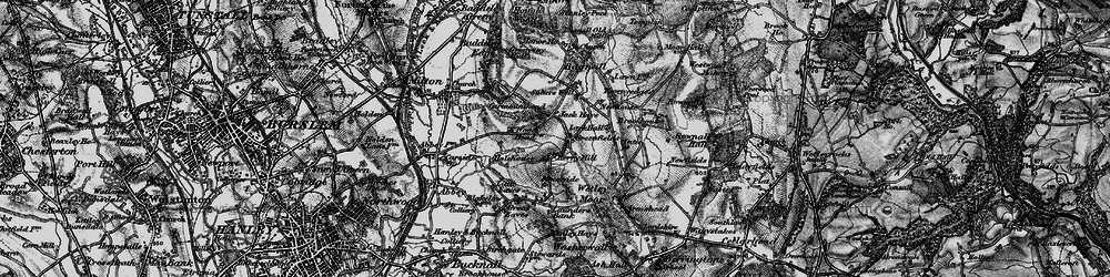 Old map of Wetley Moor in 1897