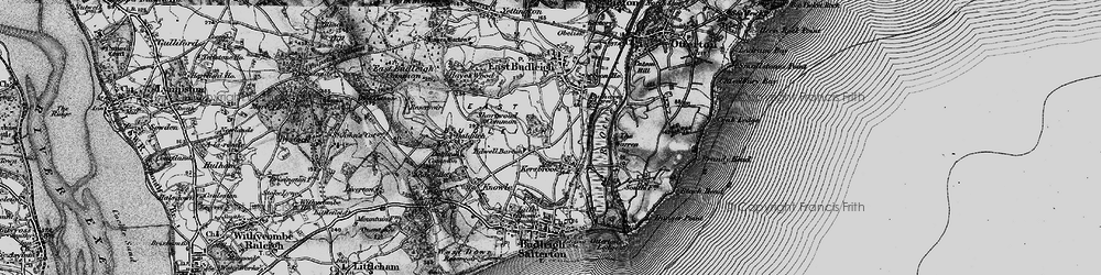 Old map of Tidwell Ho in 1898