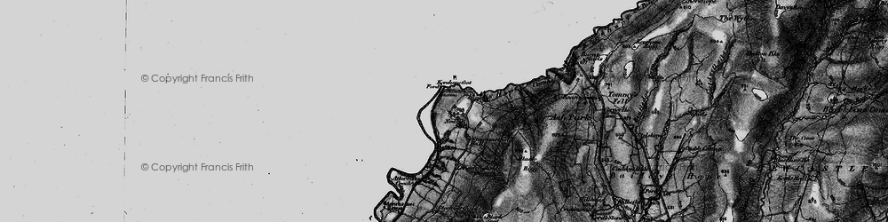 Old map of Tinnis Burn in 1897