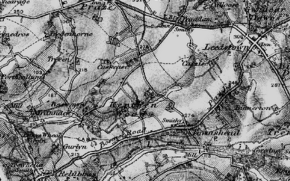 Old map of Kerthen Wood in 1895