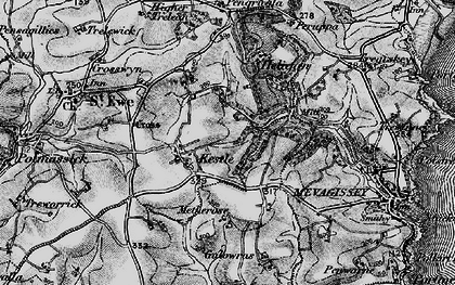 Old map of Kestle in 1895