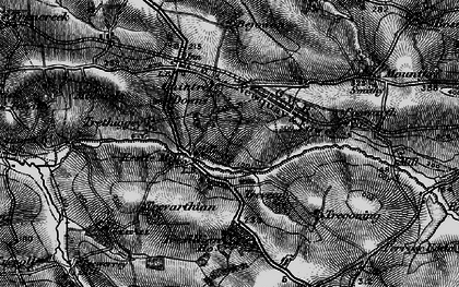 Old map of Kestle Mill in 1895