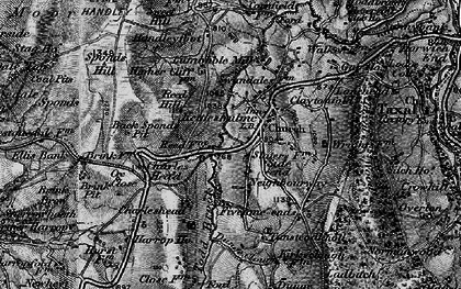 Old map of Todd Brook in 1896