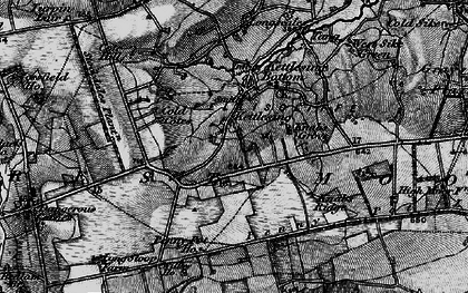Old map of Willow Ho in 1898