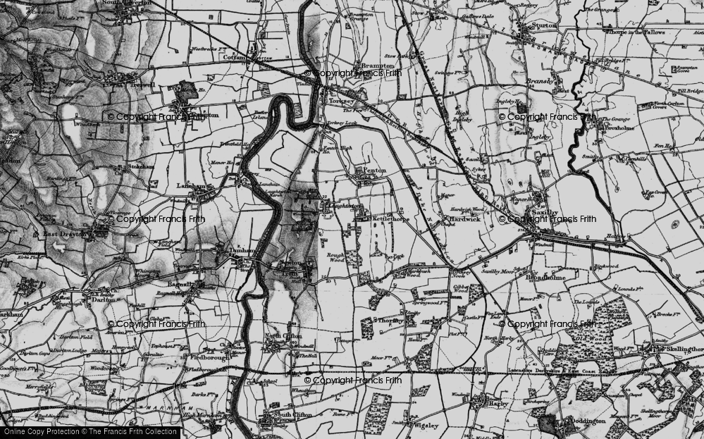 Old Map of Kettlethorpe, 1899 in 1899