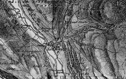 Old map of Langcliffe in 1897