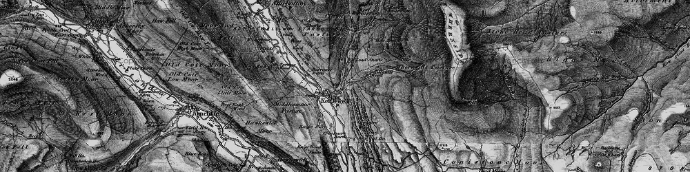 Old map of Whernside Pasture in 1897