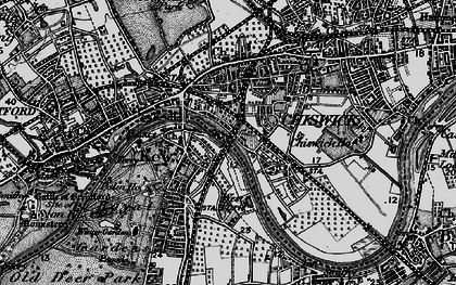 Old map of Kew in 1896