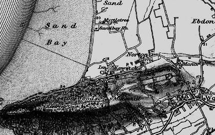 Old map of Kewstoke in 1898