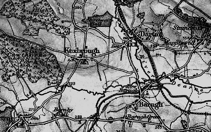 Old map of Kexbrough in 1896