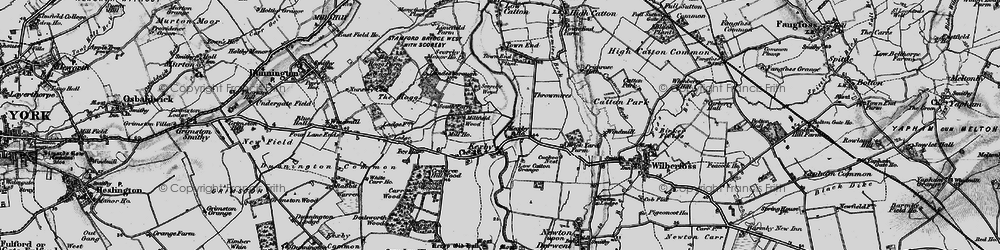 Old map of Kexby in 1898