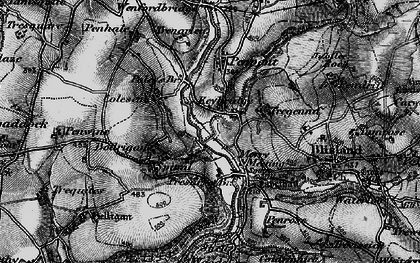 Old map of Keybridge in 1895