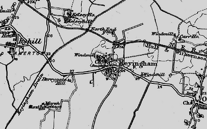 Old map of Keyingham in 1895