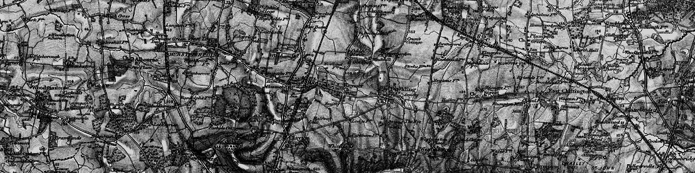 Old map of Keymer in 1895