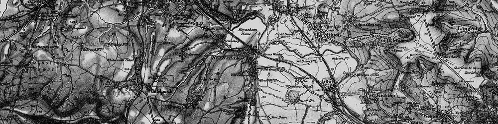 Old map of Keynsham in 1898