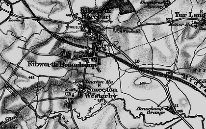Old map of Kibworth Beauchamp in 1898