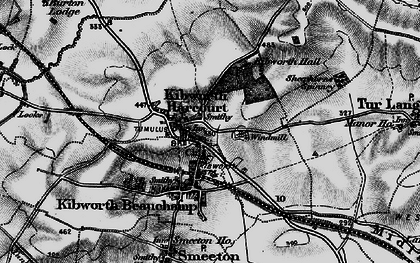 Old map of Kibworth Harcourt in 1899
