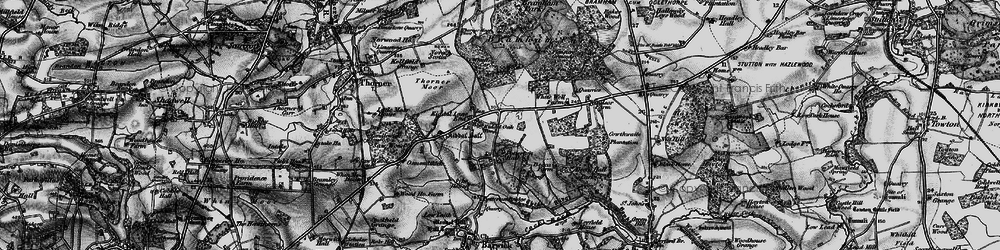 Old map of Whittle Car in 1898