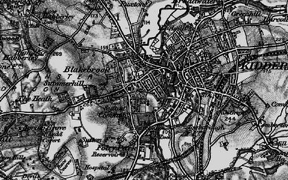 Old map of Kidderminster in 1899
