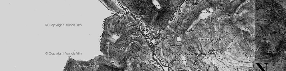 Old map of Kielder in 1897