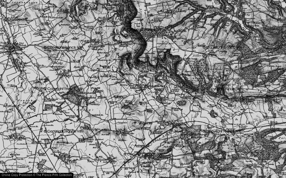 Old Map of Historic Map covering Acre Ho in 1898