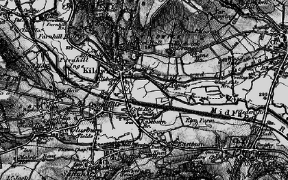 Old map of Kildwick in 1898