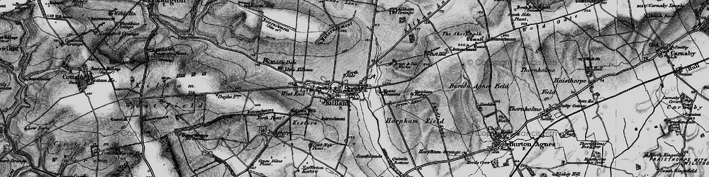 Old map of Kilham in 1898