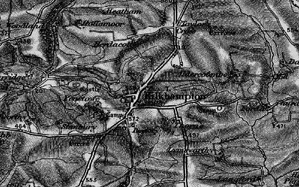 Old map of Kilkhampton in 1896