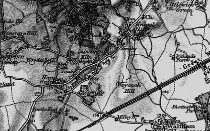 Old map of Linden Hill in 1895