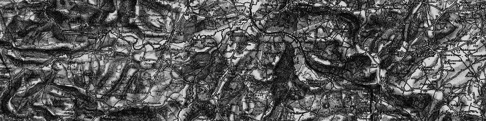 Old map of Kilndown in 1895