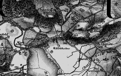 Old map of Armathwaite Hall (Hotel) in 1897