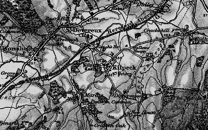 Old map of Kilpeck in 1896