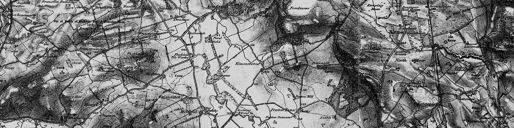 Old map of White Hill in 1897