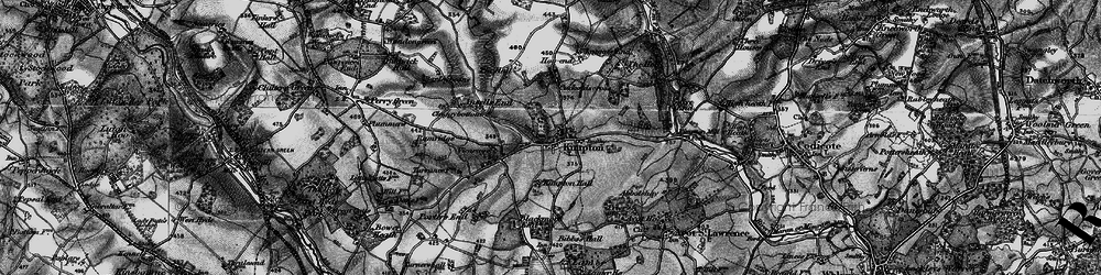 Old map of Kimpton in 1896