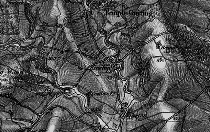 Old map of Leigh Wood in 1896