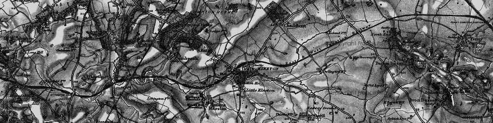 Old map of Kineton in 1896