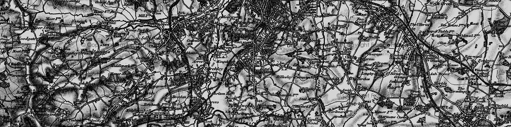 Old map of King's Heath in 1899