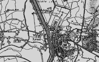 Old map of King's Lynn in 1893