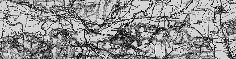 Old map of Weston Grange in 1895