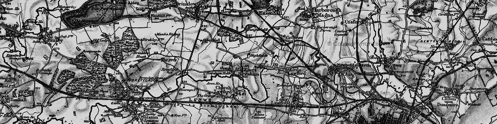Old map of All Oaks Wood in 1899