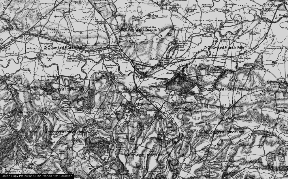 Old Map of King's Newton, 1895 in 1895