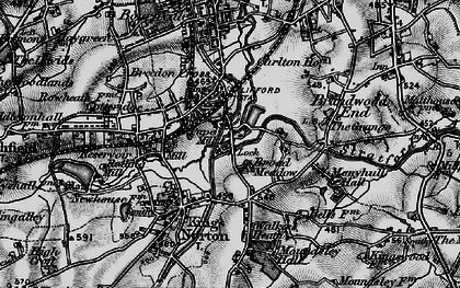 Old map of King's Norton in 1899