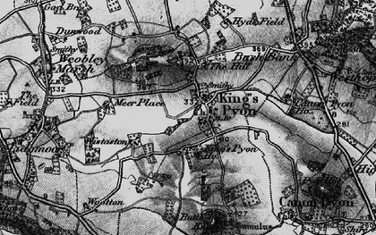 Old map of Wistaston in 1898