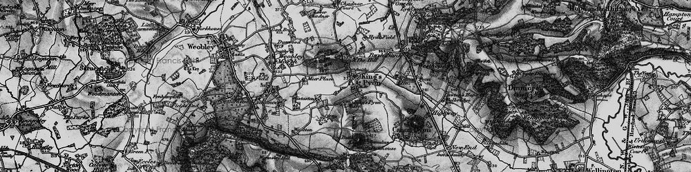 Old map of Wootton in 1898