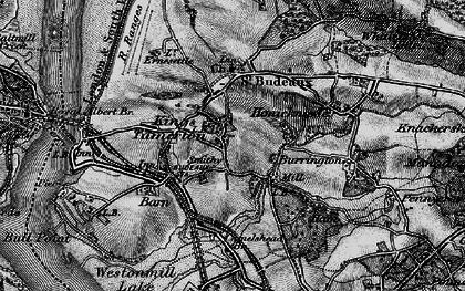 Old map of King's Tamerton in 1896