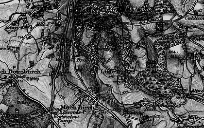 Old map of Aconbury Hill in 1896