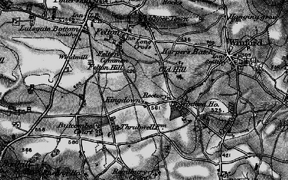 Old map of Winford Manor in 1898