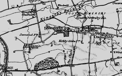 Old map of Young's Wood in 1898