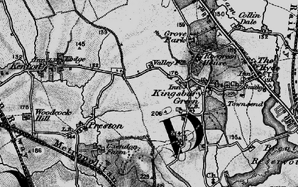 Old map of Kingsbury in 1896