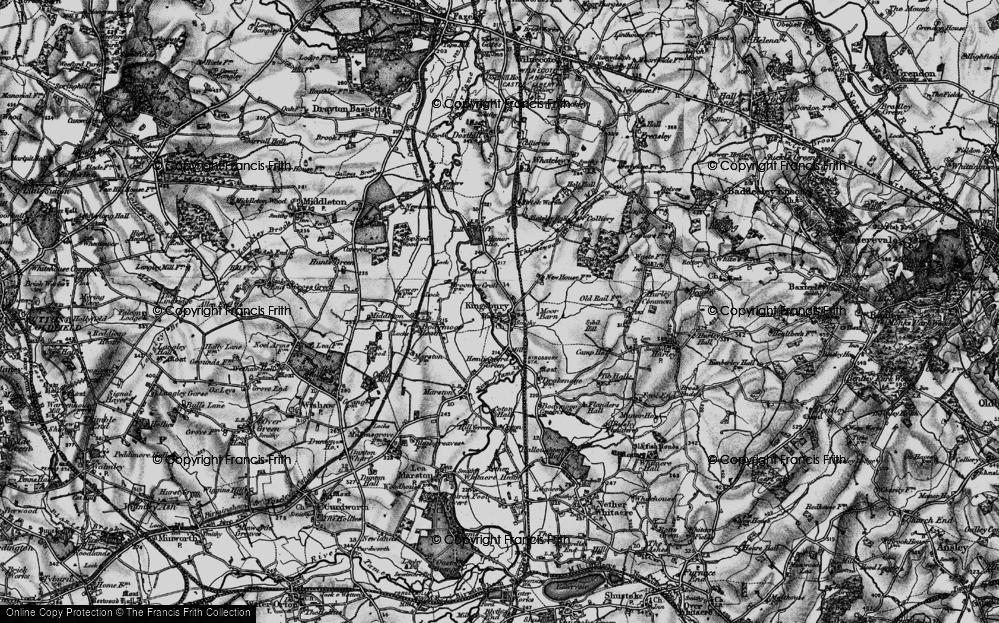 Old Map of Kingsbury, 1899 in 1899